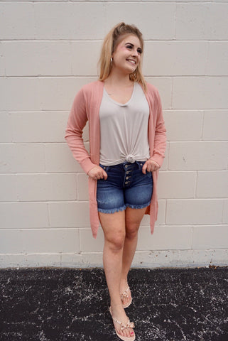 Blushing Soft Cardigan