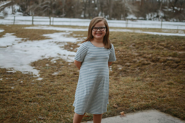 KIDS Sassy Striped Dress