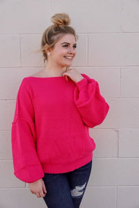 Hot pink passion sweater