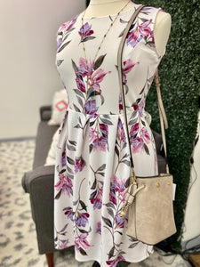 Curvy White Floral Dress