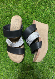 Black & Snk Gina Wedge