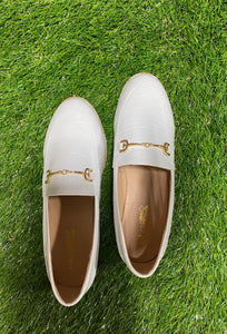 White Croco Nova Loafers