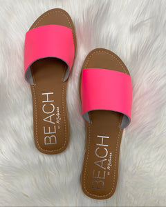 Hot Pink Leather Cabana Sandals