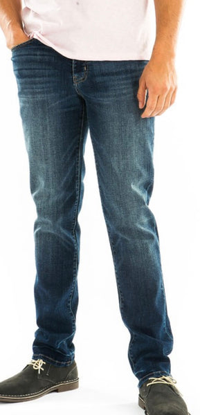 Mens dark wash slim straight Jeans