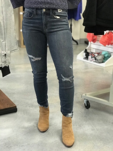 Dark Wash Distressed Jeans