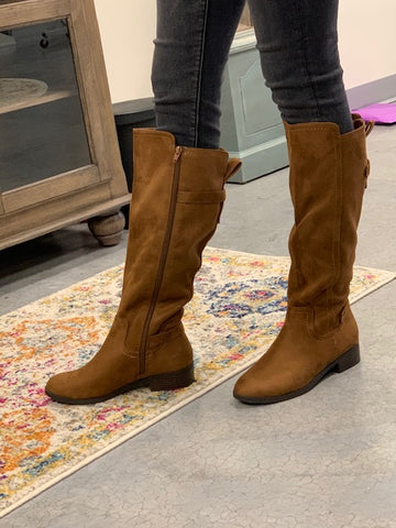 Chestnut knee high boots