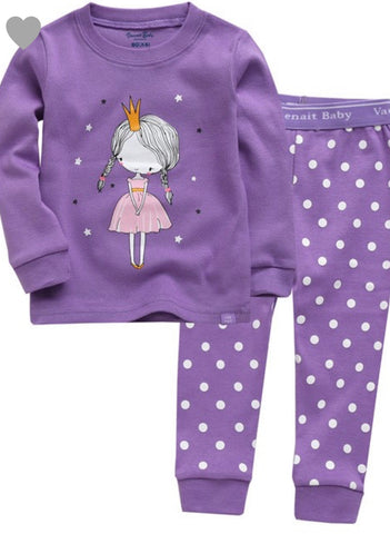 KIDS purple princess jammies