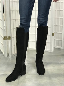 Black beauty knee high boots