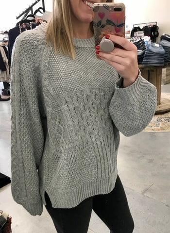 Laid back light grey sweater