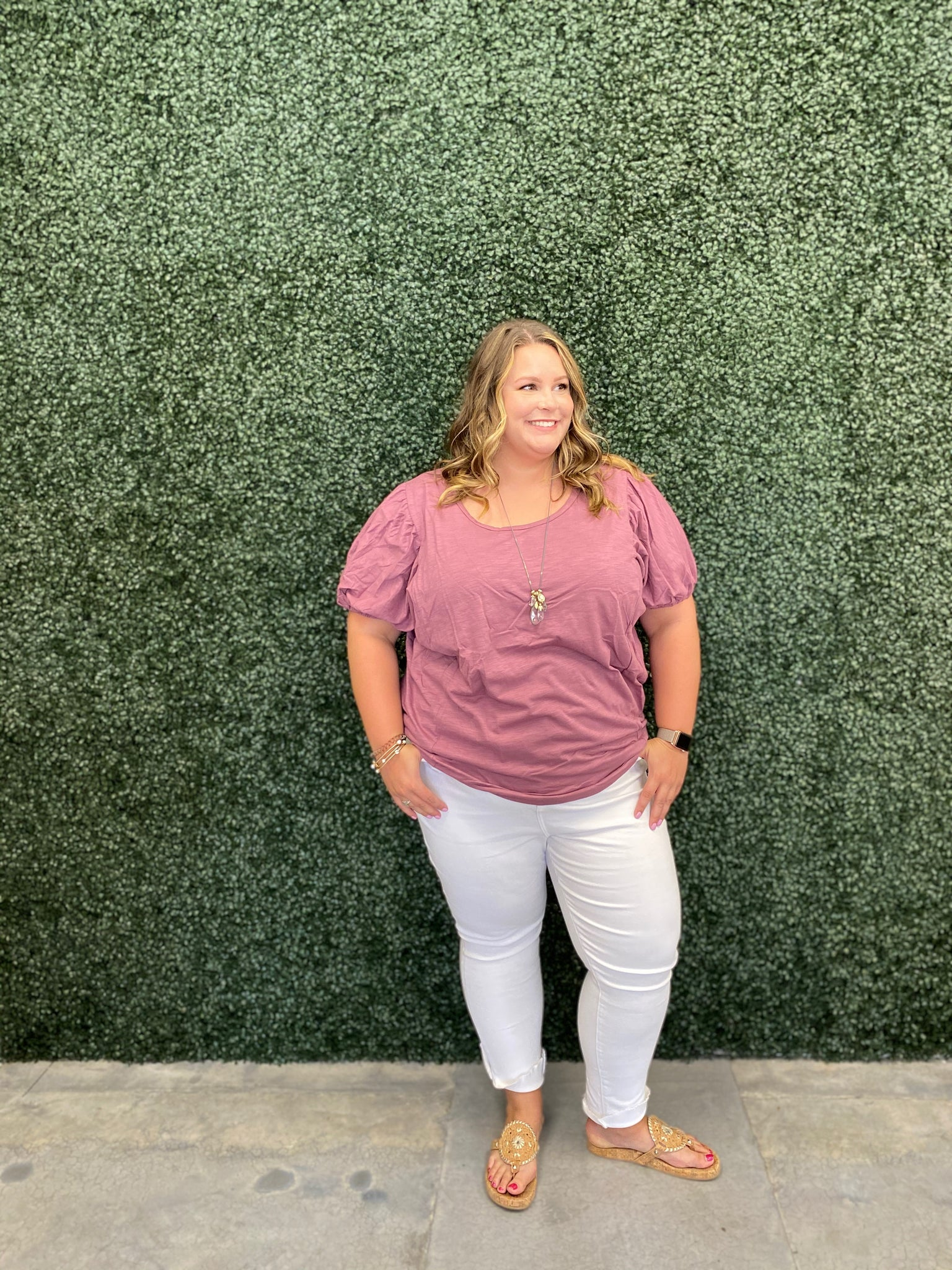 Curvy Girl (plus size) Mavis Mauve Top