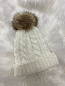 Beanie with removable Pom