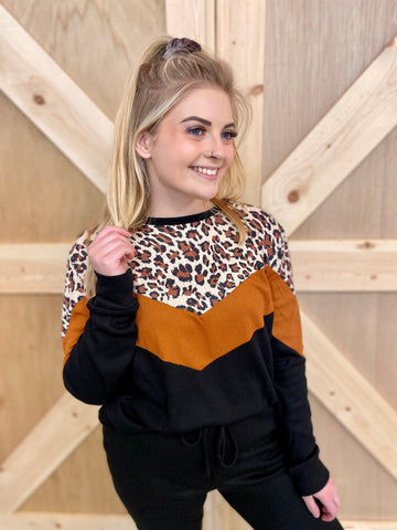 Cozy Colorblock Waffle Knit Top