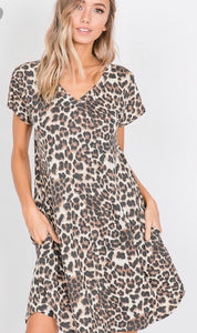 Curvy girl (extended sizes) Wild accents dress