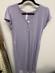 Lilac Button Dress