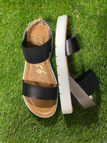 Black & Silver Boss Sandal