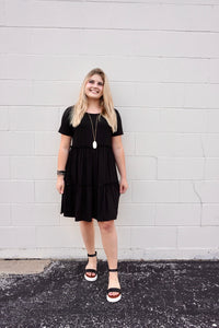 Betsy's Black Ruffle Dress