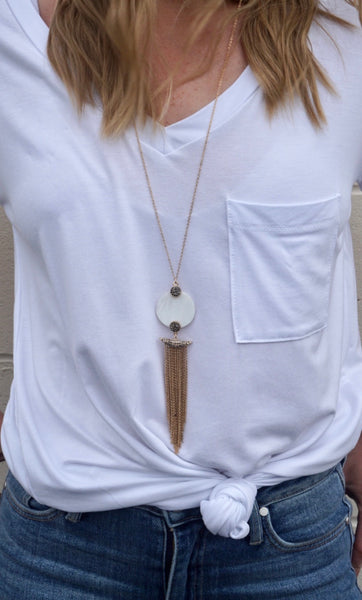 R&L Coastal Crush Tassel Necklace