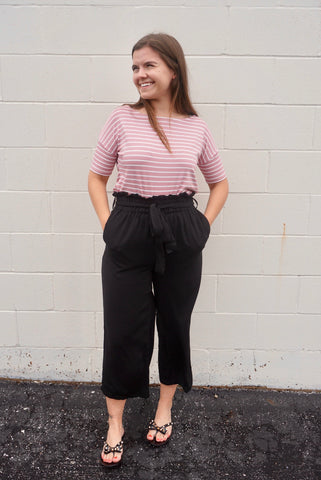 Bailee's Black Gaucho Pants