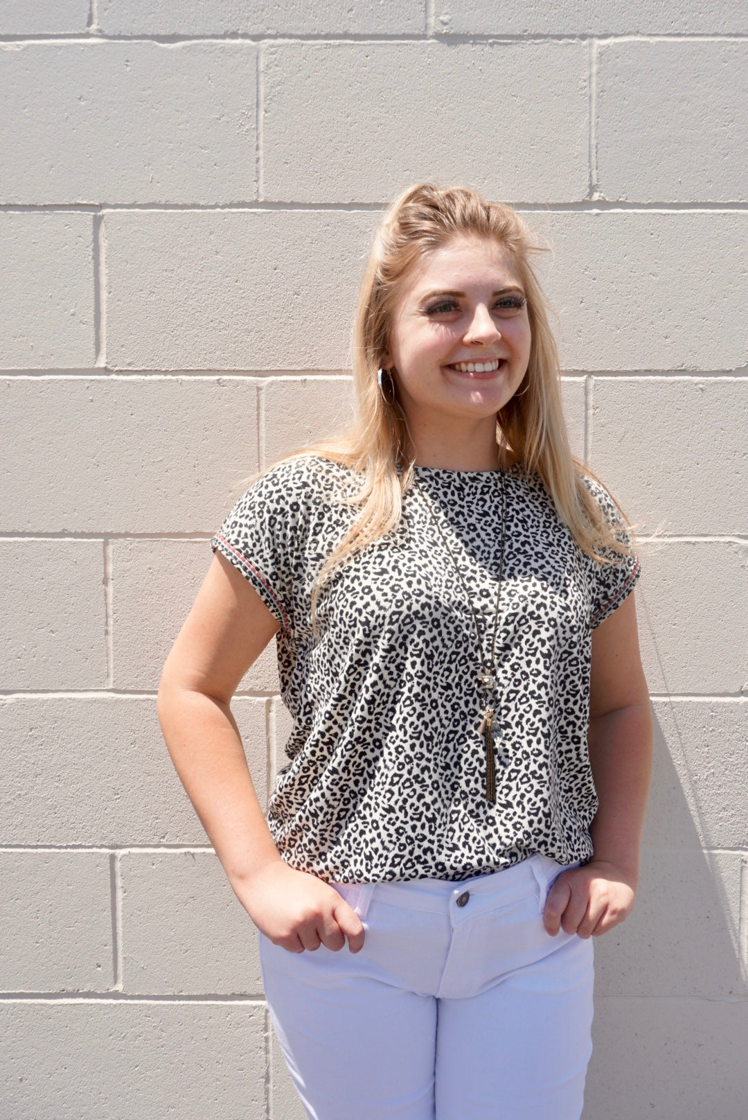 Leelah's Black & White Leopard Top