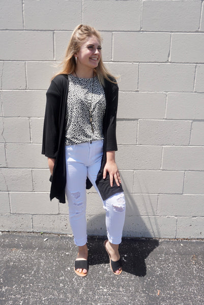 Blakely's Black 3/4 cardigan