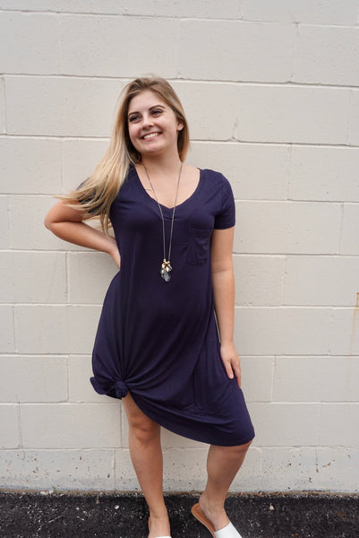 Chloe's Navy T-Shirt Dress