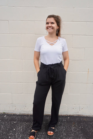 Black Work wear Pants
