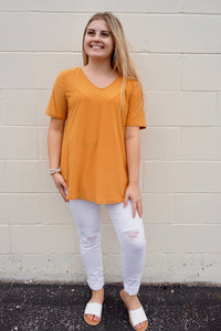 Cari's Criss Cross Mustard Top