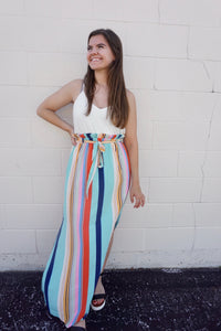 Beachy Striped Maxi Dress