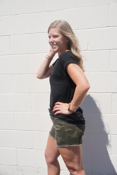 Camo High Waisted Shorts