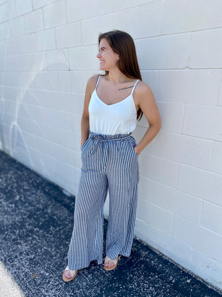 Julie's Stripe Jumpsuit