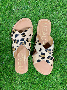 Pebbles Criss-Cross Slide - Leopard