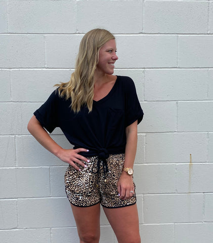 Leopard Athletic Shorts