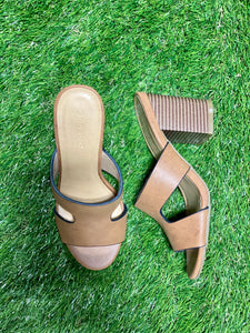 Crave Block Heel Sandals - Brown