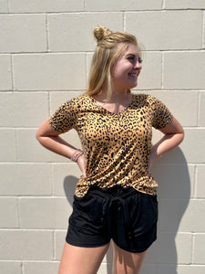 Logan's Leopard V-Neck
