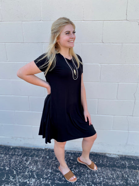 Sierra's Black Shift Dress