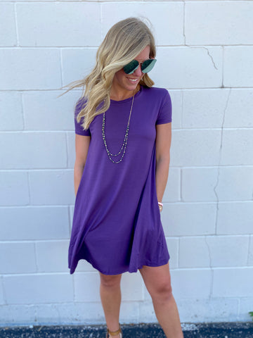 Sierra's Purple Shift Dress