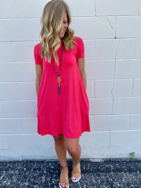Sierra's Coral Shift Dress