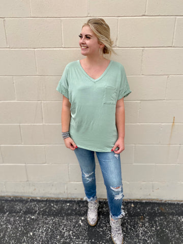 Mint Basic Pocket Tee