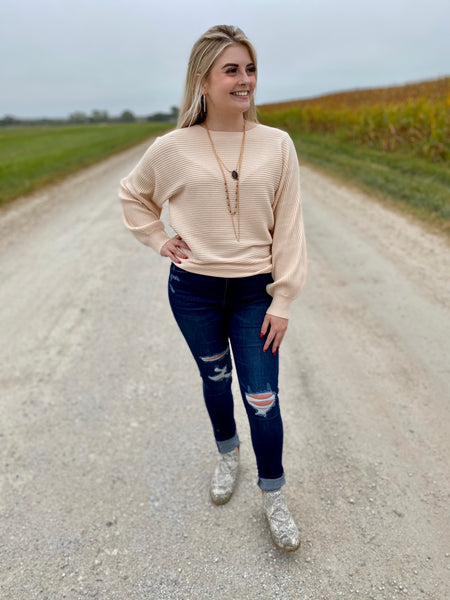 Sadie's Simple Ivory Sweater