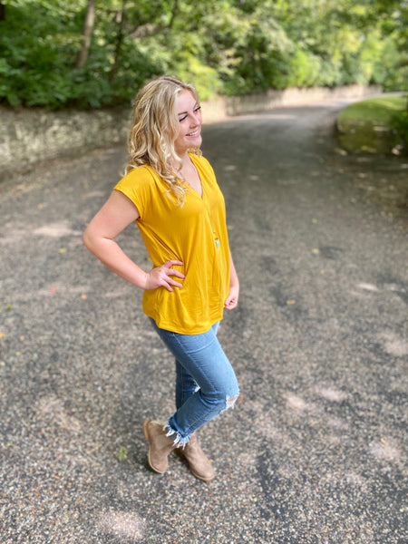 Sunnie's Mustard Simple Top