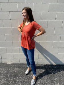 Perfectly Orange Peplum Top