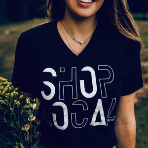 Shop local v-neck