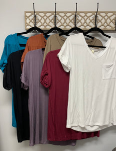 Soft basic v neck