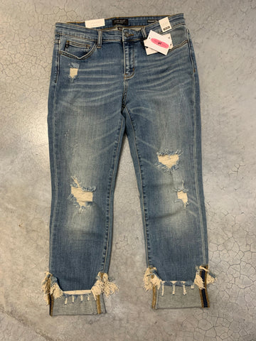 Jaws part I distressed denim