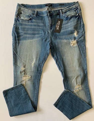 Snazzy Suzi distressed curvy girl denim