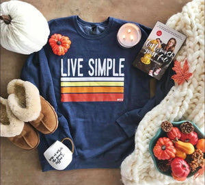 Live simple sweatshirt