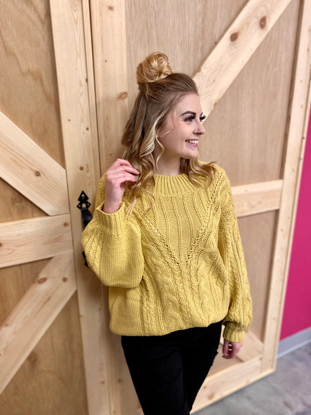Golden Knit Sweater