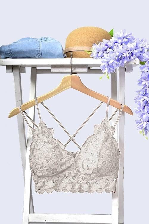 White Lacey bralette