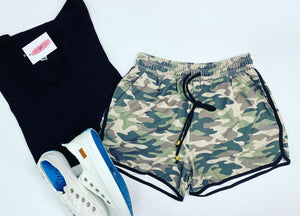 Camo Athletic Shorts