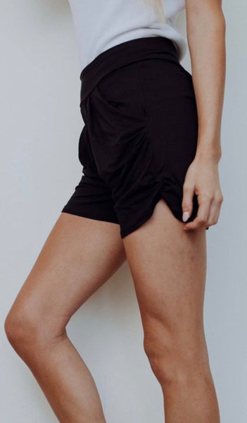 Black Harem Shorts